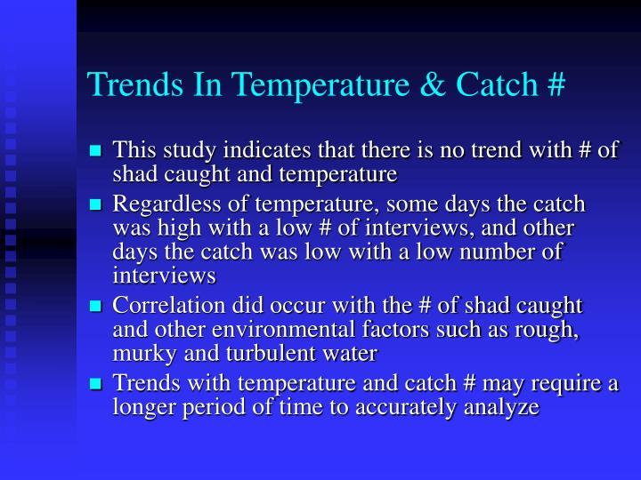 Trends In Temperature & Catch #