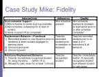 case study mike fidelity