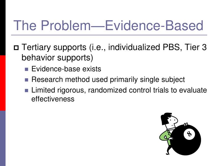 The problem evidence based