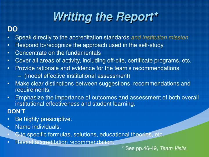 Writing the Report*