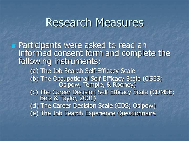 Research Measures
