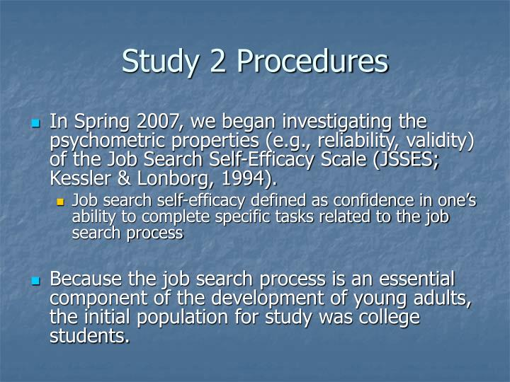 Study 2 Procedures