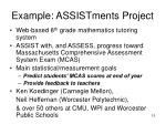 example assistments project