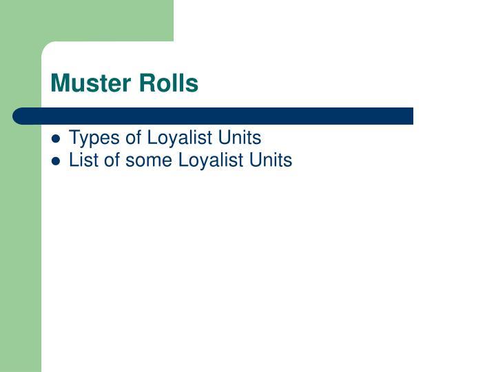 Muster Rolls