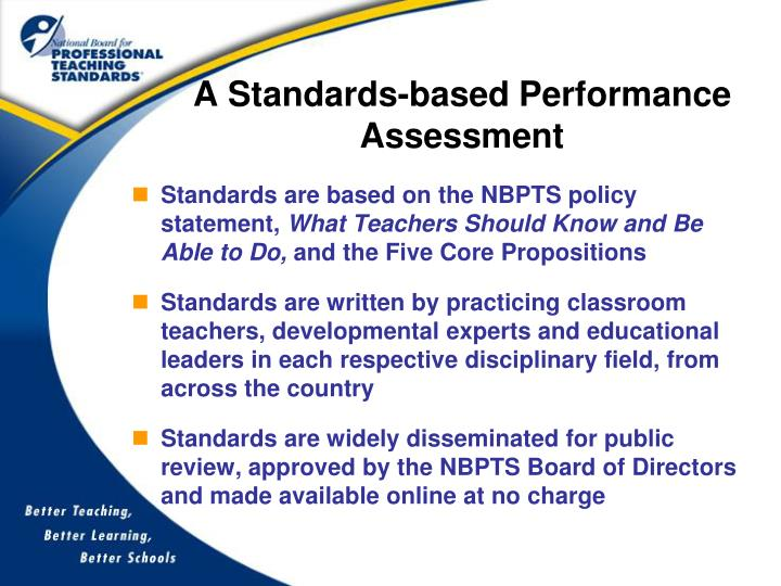 A Standards-based Performance Assessment