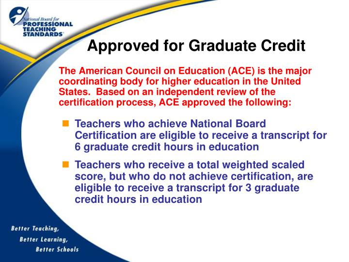 Approved for Graduate Credit
