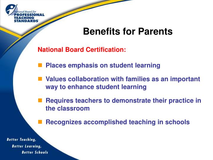 Benefits for Parents