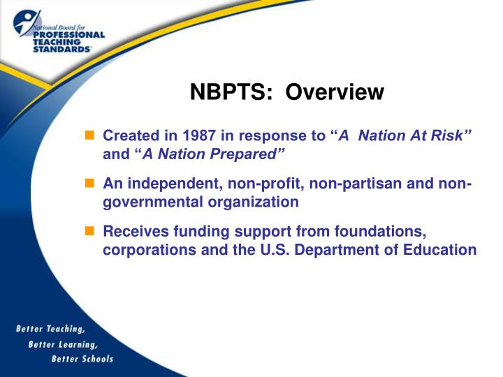 Nbpts overview