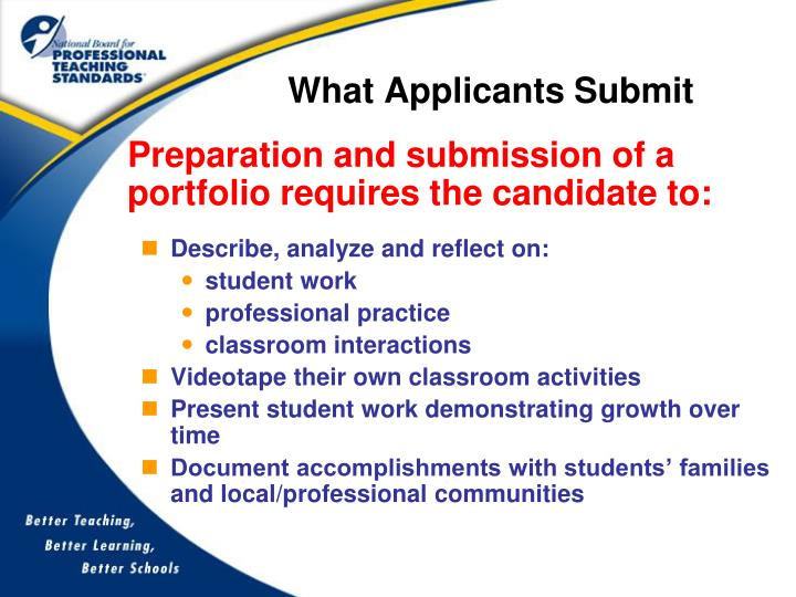 What Applicants Submit