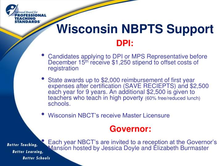 Wisconsin NBPTS Support