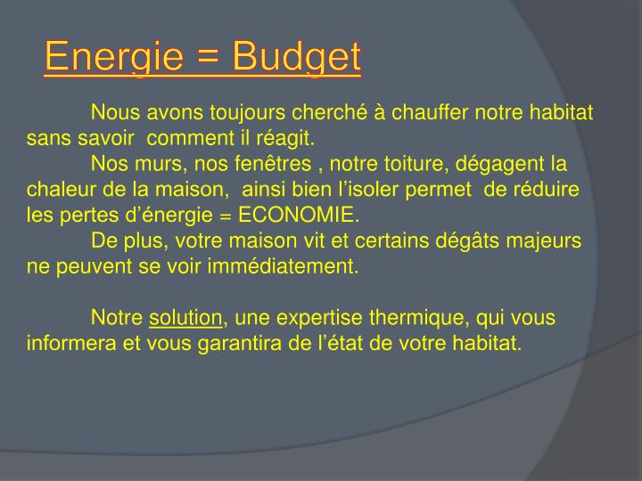 Energie = Budget