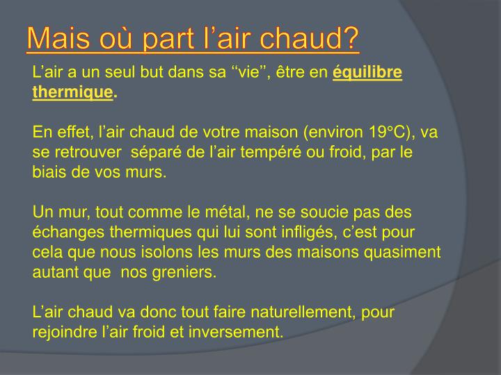 Mais où part l'air chaud?