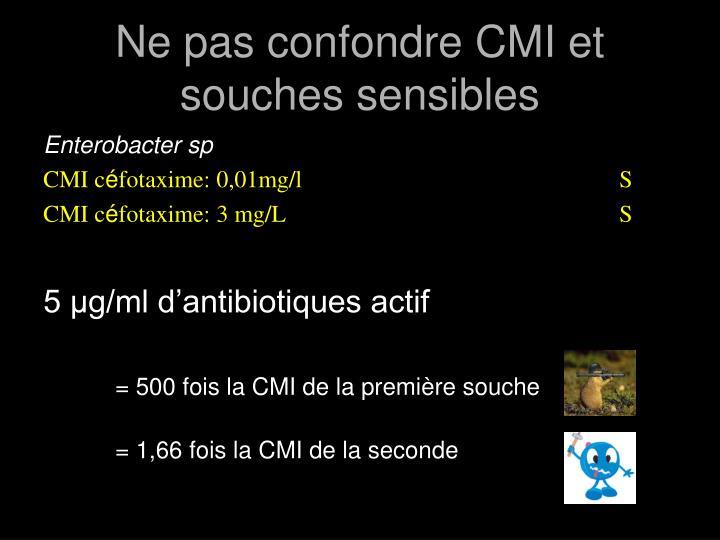Ne pas confondre CMI et souches sensibles