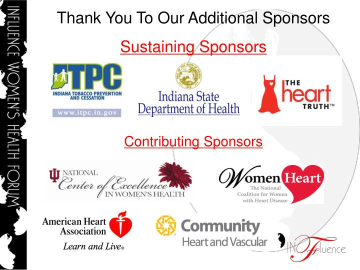 Thank You To Our Additional Sponsors