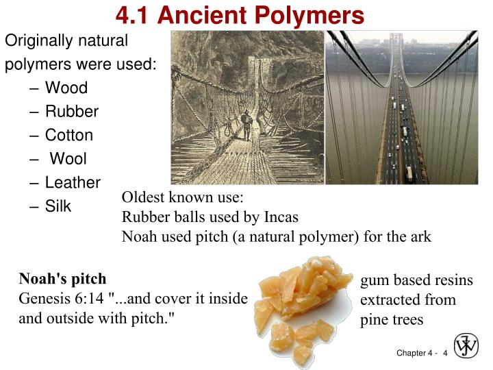 4.1 Ancient Polymers