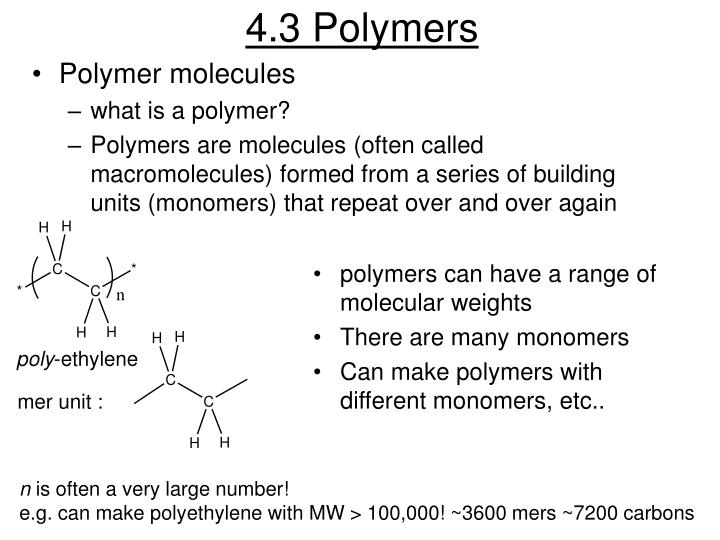 4.3 Polymers