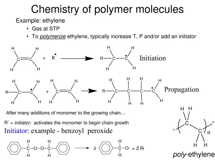Chemistry of polymer molecules