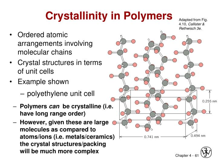 Crystallinity in Polymers