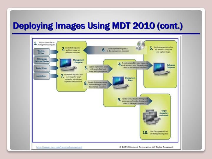 Deploying Images Using MDT 2010 (cont.)
