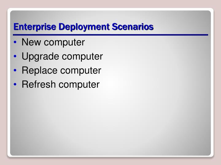 Enterprise Deployment Scenarios