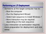 performing an lti deployment
