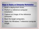 steps to deploy an enterprise workstation
