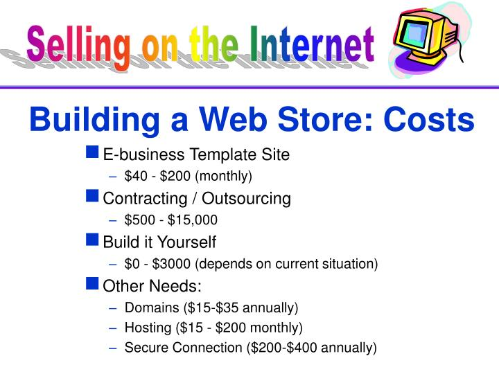 Building a Web Store: Costs