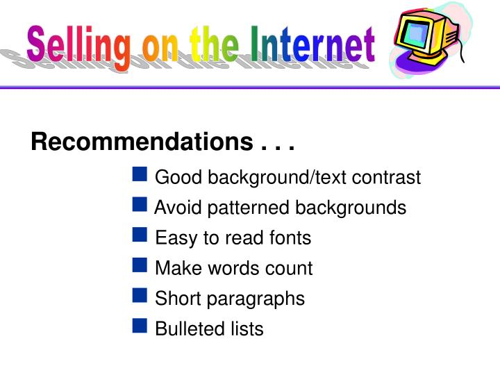 Recommendations . . .