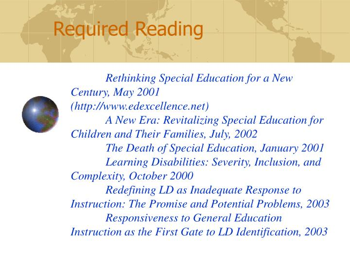 Rethinking Special Education for a New Century, May 2001
