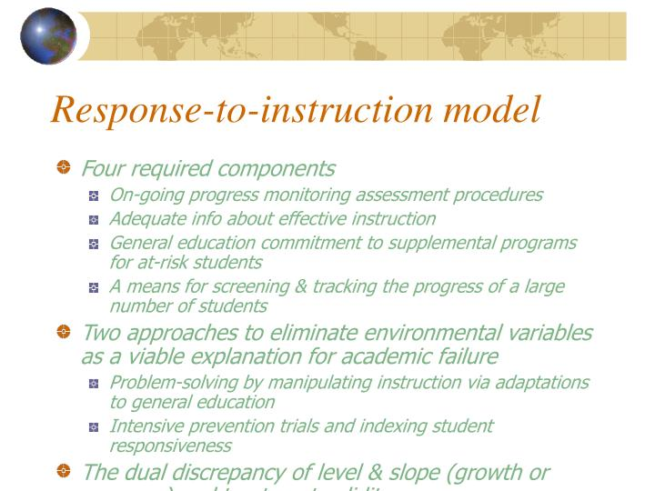 Response-to-instruction model