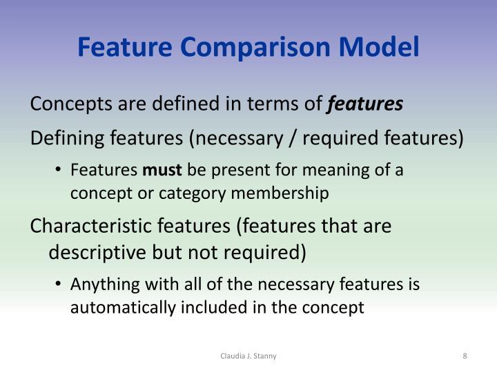 Feature Comparison Model