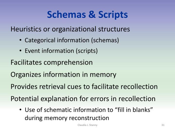 Schemas & Scripts