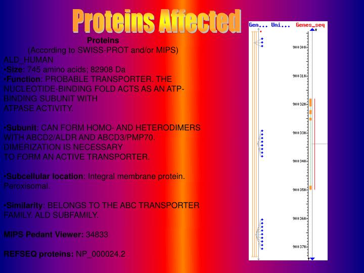 Proteins Affected