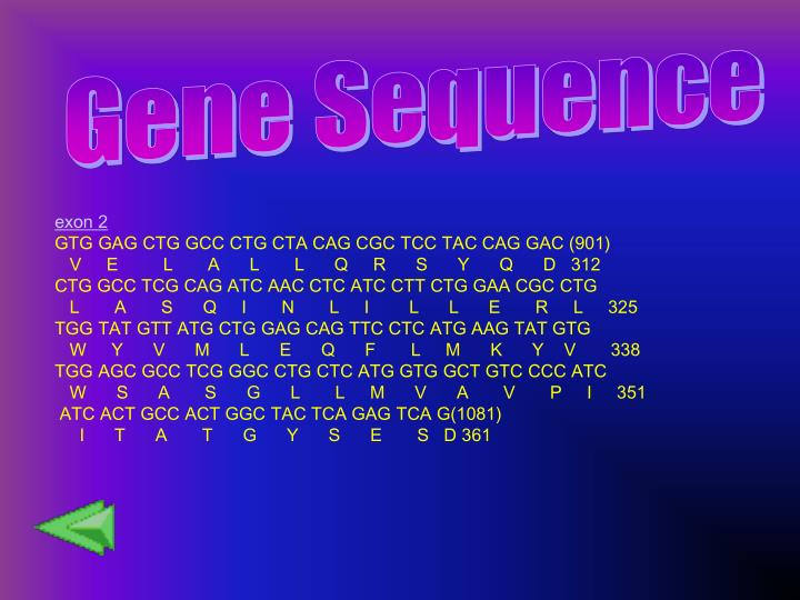 Gene Sequence