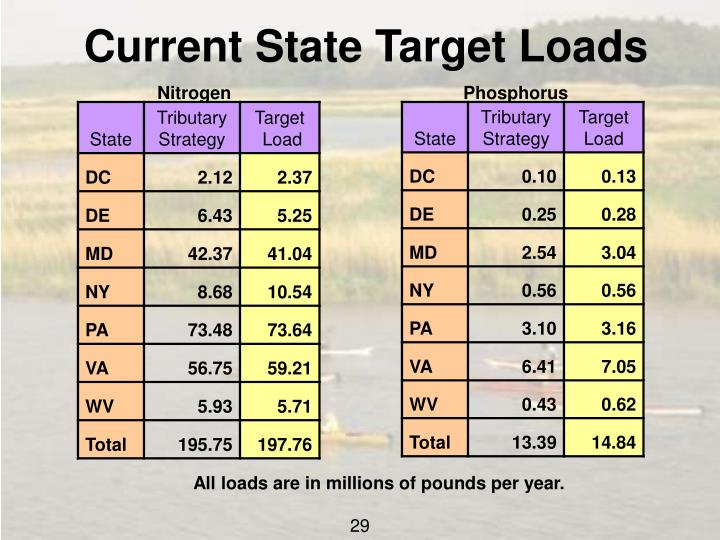 Current State Target Loads