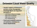 delaware local water quality