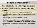 federal consequences