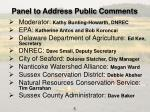 panel to address public comments