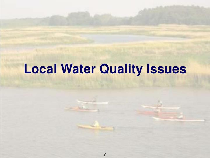 Local Water Quality Issues