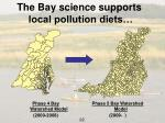 the bay science supports local pollution diets