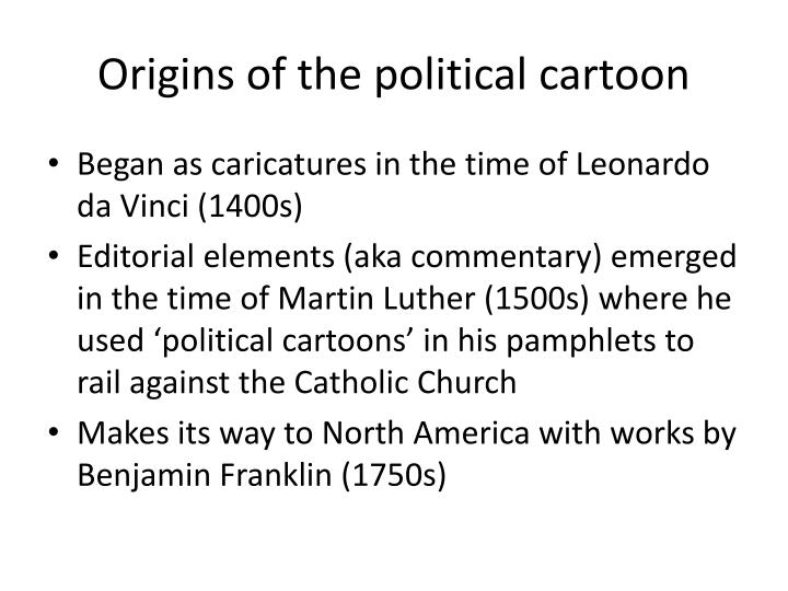 Origins of the political cartoon