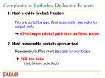 complexity in bufferless deflection routers