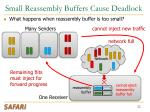 small reassembly buffers cause deadlock
