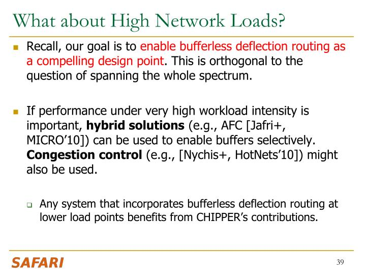 What about High Network Loads?