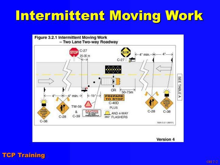 Intermittent Moving Work