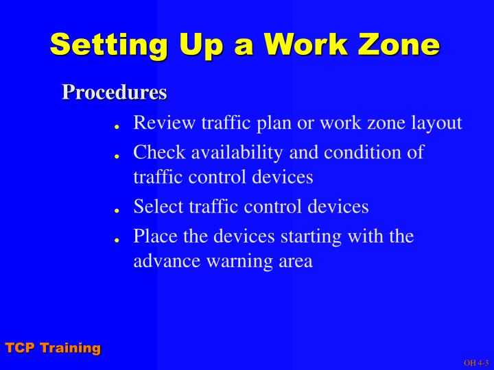 Setting Up a Work Zone
