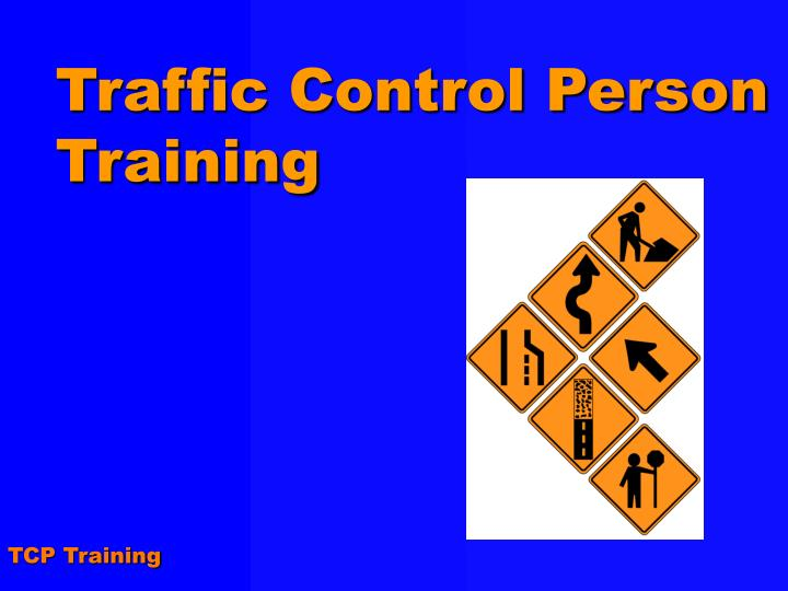 traffic control person training