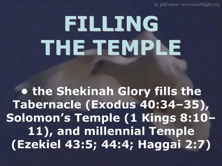 FILLING THE TEMPLE