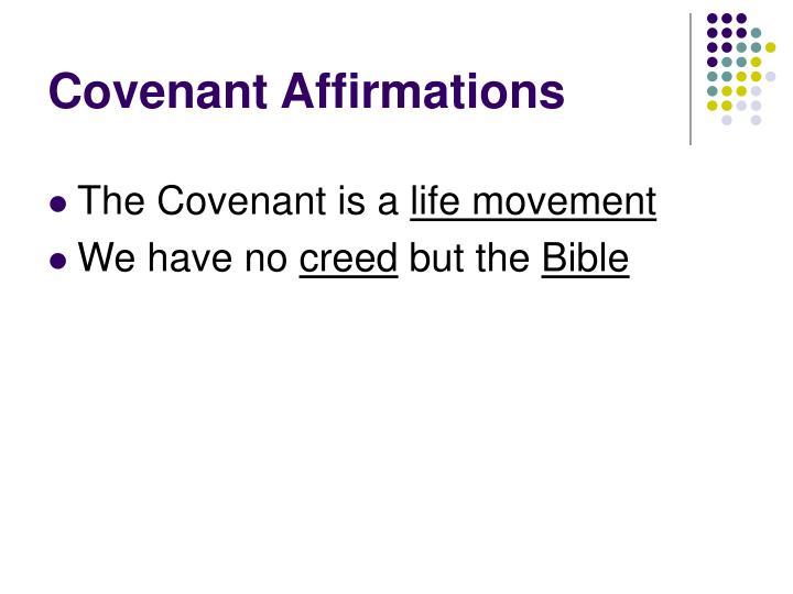 Covenant Affirmations