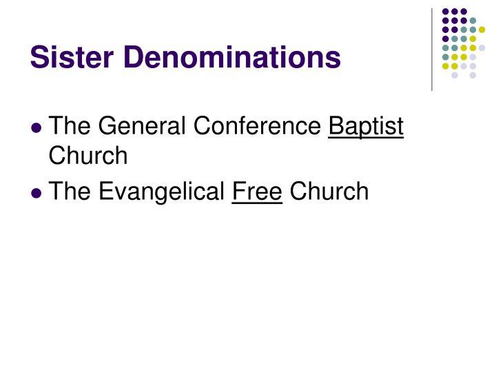 Sister Denominations